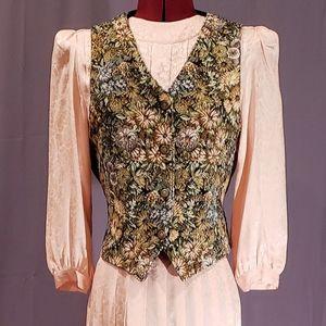 Vintage tapestry carpet floral vest